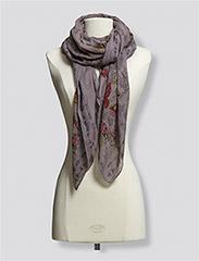 post nymph scarf - ASPHALT