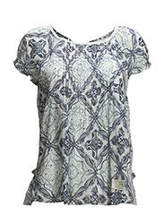 caribou s/s blouse - VINTAGE BLUE