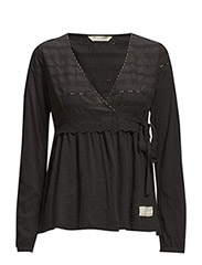 morning dew blouse - ALMOST BLACK