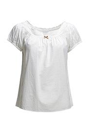 coney island s/s blouse - BRIGHT WHITE