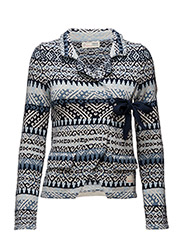 lovely knit jacket - BLUE