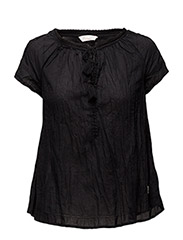 so long s/s blouse - ALMOST BLACK