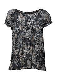 caribou s/s blouse - ASPHALT