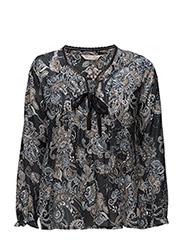 caribou l/s blouse - ASPHALT