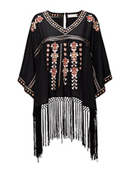 ticket to ride poncho - ALMOST BLACK