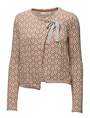 knitted wings cardigan - CAMEL