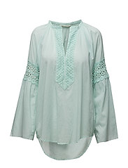 atmosphere l/s blouse - LIGHT TURQUOISE