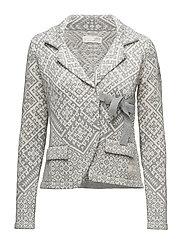 lovely knit jacket - LIGHT GREY