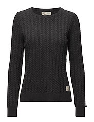 ribbey sweater - ALMOST BLACK