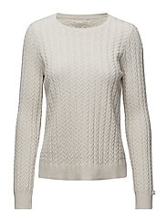 ribbey sweater - LIGHT CHALK