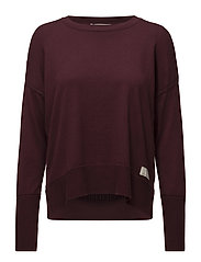 miss soft sweater - BURGUNDY