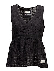 solo sleeveless blouse - ALMOST BLACK