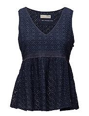 solo sleeveless blouse - DARK BLUE