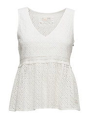 solo sleeveless blouse - LIGHT CHALK