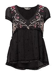 entertain blouse - ALMOST BLACK