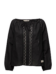 hang out l/s blouse - ALMOST BLACK