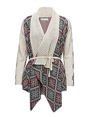 after light wrap cardigan - CHALK