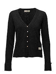 wide away cardigan - ALMOST BLACK