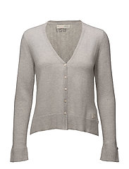 wide away cardigan - LIGHT GREY MELANGE