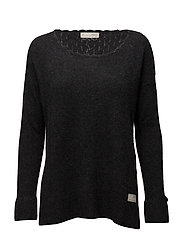 wide away sweater - ALMOST BLACK