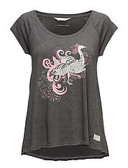rock star t-shirt - ASPHALT