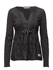 summer night l/s blouse - ASPHALT