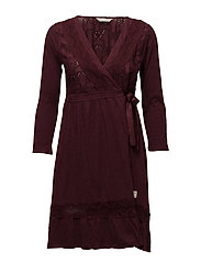 summer night dress - BURGUNDY