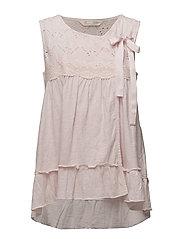 summer night sleeveless blouse - SOFT ROSE