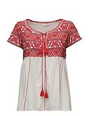 oh la la s/s blouse - RED