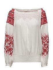 oh la la l/s blouse - RED