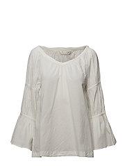 brilliant l/s blouse - LIGHT CHALK