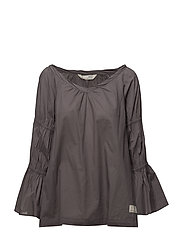 brilliant l/s blouse - SHADOW