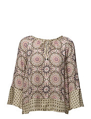 honey-coated l/s blouse - PINK PORCELAIN