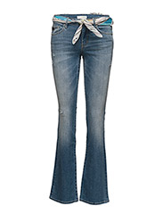 stretch it boot-cut jean - MID BLUE