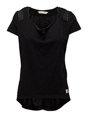 hang loose s/s top - ALMOST BLACK
