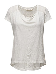 hang loose s/s top - LIGHT CHALK