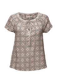 embrace s/s blouse - PALE RED