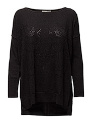 fearless sweater - PALE BLACK MELANGE