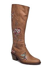rattlesnake high boot - BROWN