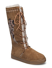 suedey high boot - DESERT