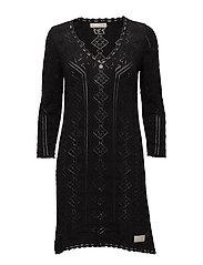 vibrato dress - ALMOST BLACK