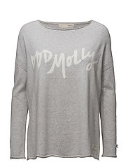hey baby pullover - LIGHT GREY MELANGE