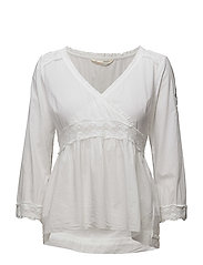 medley l/s blouse - BRIGHT WHITE