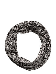 symphony tube scarf - ALMOST BLACK