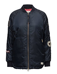 love bomber jacket - FRENCH NAVY