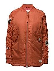 love bomber jacket - ORANGE