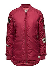love bomber jacket - RED BUD