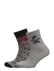 socky sock - BLACK MULTI