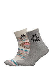 socky sock - CHALK MULTI