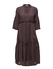 sway dress - PEPPERCORN